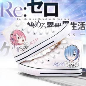 Anime RE:ZERO REM RAM canvas shoes female size