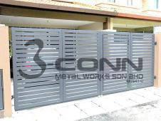 Powder Coated Mild Steel Folding Main Gate