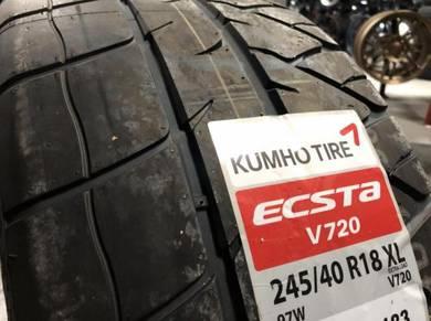 Tayar baru 245 40 18 Kumho ecsta V720 semislick 20