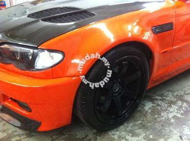 Bmw widebody E46 FRONT REAR ARCH conversion ONLY