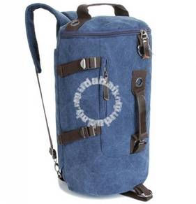 Barrel Backpack Multifunction Notebook Bag (Blue)