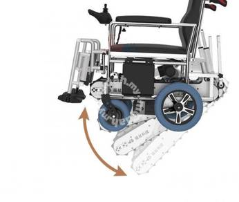 Electric crawler climbing wheelchair