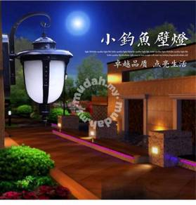 Outdoor wall light with led bulb