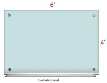 Glass White board 4'x6'~Siap Pasang Whiteboard