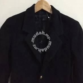 Women's Gianni Versace Black Coat Size 30 cashmere