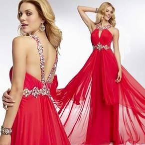 Red prom dinner wedding dress gown RBP0185