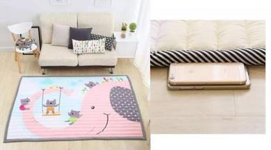 (KOREA) Pink Elephant Kids Thick play Mat (Selimut