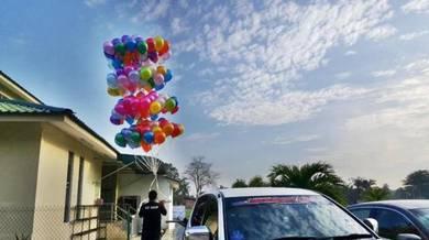 539) Balloon Lauching Colourful