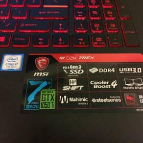 Msi gl62 7rex gaming laptop