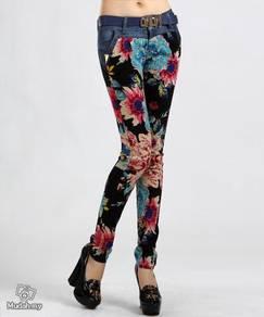 Elastic pants mid waist england