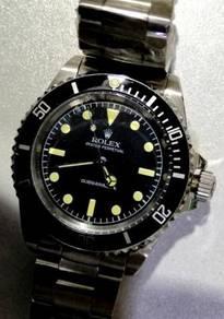 Jam old school submariner no date Steel watch