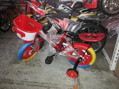 Baby red bicycle