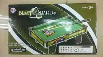 Wooden Kids Pool Snooker (Snuker Kayu Kanak