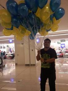 131) 50pcs helium balloon for rooms deco