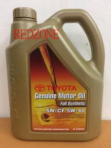 Toyota fully synthetic engine oil 5w-40 genuine