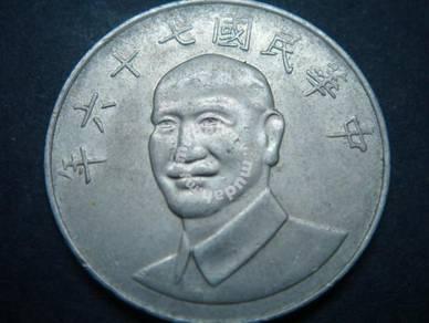 (CN 0025)1987 Taiwan 10 Yuan coin
