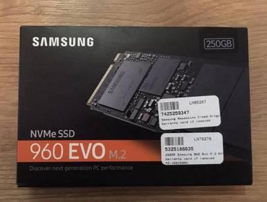 Samsung 960 Evo 250GB m.2 SSD
