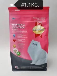 SmartHeart Hairball Control Cat Food 1kg Kucing