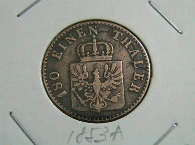 2 Pfenninge - German Prussia 180 Einen Thaler 1853