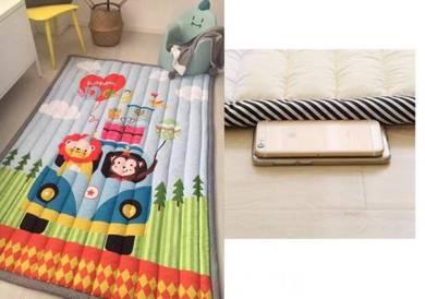 (KOREA) Monkey & Lion Kids Thick play Mat (Selimut