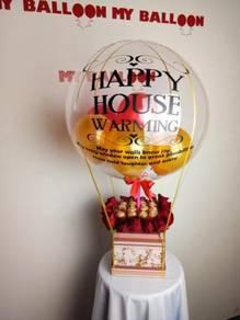 Hot air balloon & choc in box