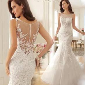 White prom dinner wedding bridal dress gown RB0168
