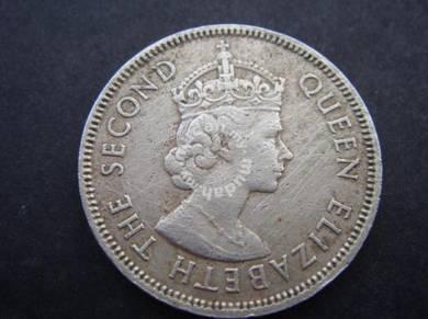 (CN 0015)1965 Hong Kong 50 cents coin