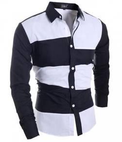 F75670 Kemeja Hitam Lengan Panjang Formal Shirt