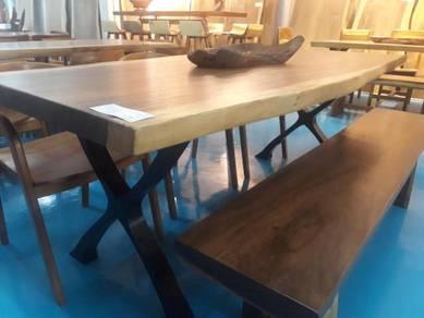 Acacia wood dining table