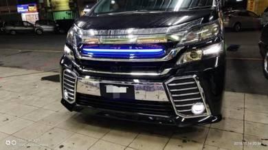 Toyota vellfire convert facelift bodykit bumper