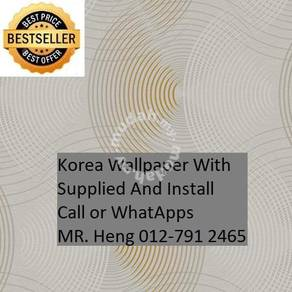3D Korea Wall Paper with Installation tui9o7