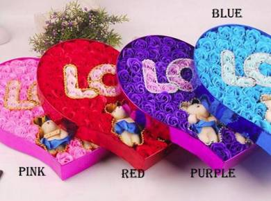 99Pcs/Box Colorful love Rose Soap Flower