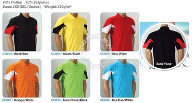 T Shirt Collar 60% Cotton 40% Poly Mix Uni CI08XX