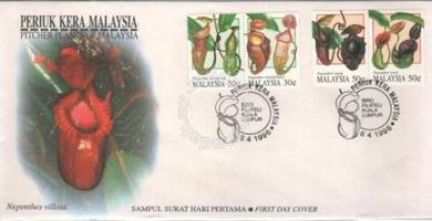 First Day Cover Pitcher Plant Malaysia 1996