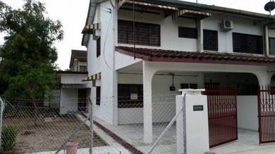 Double storey corner terraced house, Kampar