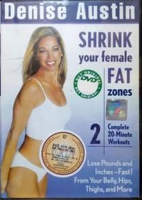 DVD Denise Austin Shrink Your Female Fat Zones