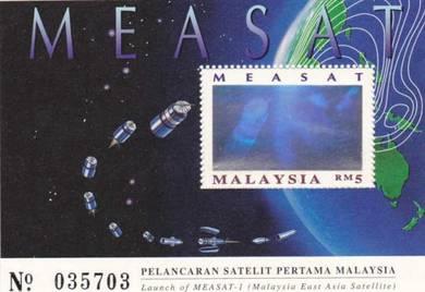 Miniature Sheet Measat Malaysia 1996