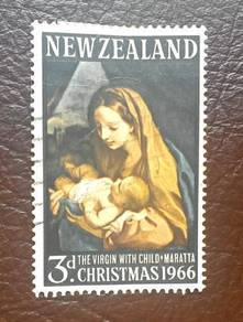 3D. Stamp New Zealand Christmas 1966