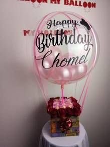 Choc bouquet with hot balloon
