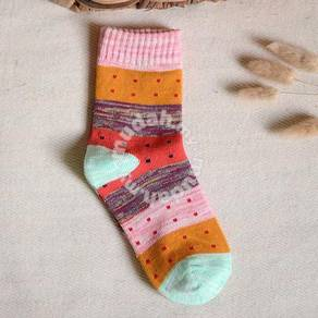 Thick lines influx color cotton socks For her