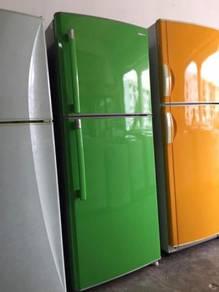 Samsung green 2 doors fridge Peti Sejuk Ais