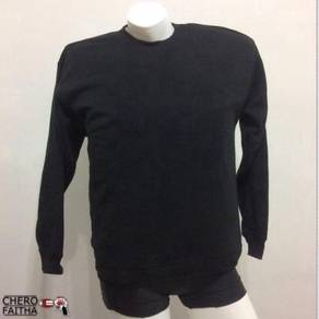 InAdvance plain black baju sweater pullover sweats