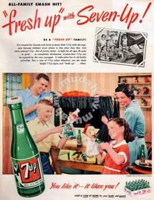 Poster 7UP Vintage