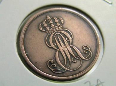 German State 1 Pfennig 1847A