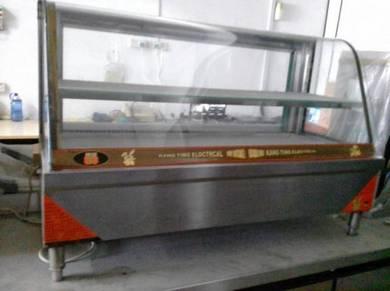 Counter Top Curve Glass Display Food Warmer
