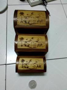 TEXP 3 In 1 Kotak Kayu Wooden Box Set