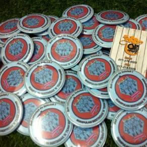 Tempahan Button Badge Pin