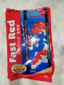Atlas Fast Red Fish Feed Food Makanan Ikan XL 5kg