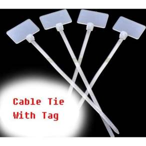 Nylon cable tie with tag 3mmx100mm 100pcs