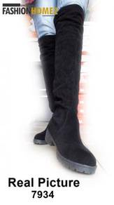 7934 Women High-heeled Casual Knee Boots